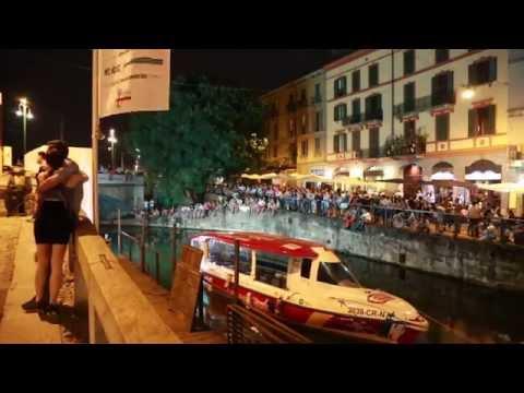 Navigli Milano at night