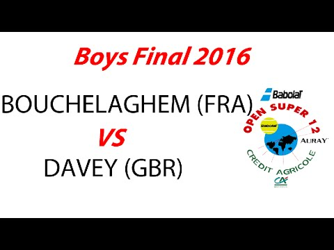 BOUCHELAGHEM ( FRA) vs DAVEY (GBR) - Boys Final - Open Super 12 Auray Tennis