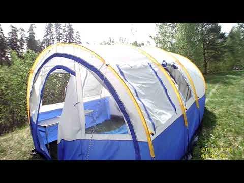 Палатка кемпинговая 4 местная с тамбуром KD 801