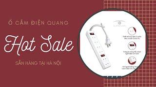 Ổ cắm Điện Quang giá rẻ sẵn hàng ở Hà Nội, loại 2 chấu 6 lỗ cắm