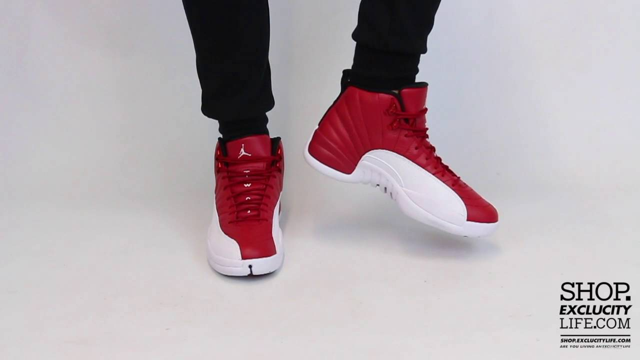 sports shoes b84f8 8b125 Air Jordan 12 Retro Gym Red White On feet Video at Exclucity