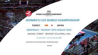日本vsトルコ バレーボール U23 世界選手権 準決勝 20150818