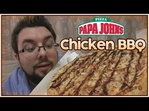 Papa Johns Chicken BBQ Pizza Review