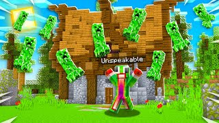 Playing Minecraft But It RAINS CREEPERS...