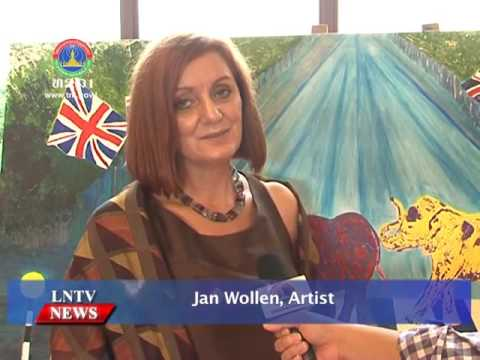 Lao NEWS on LNTV: Art Exhibition representing the culture and nature of Laos and the UK.4/10/2016