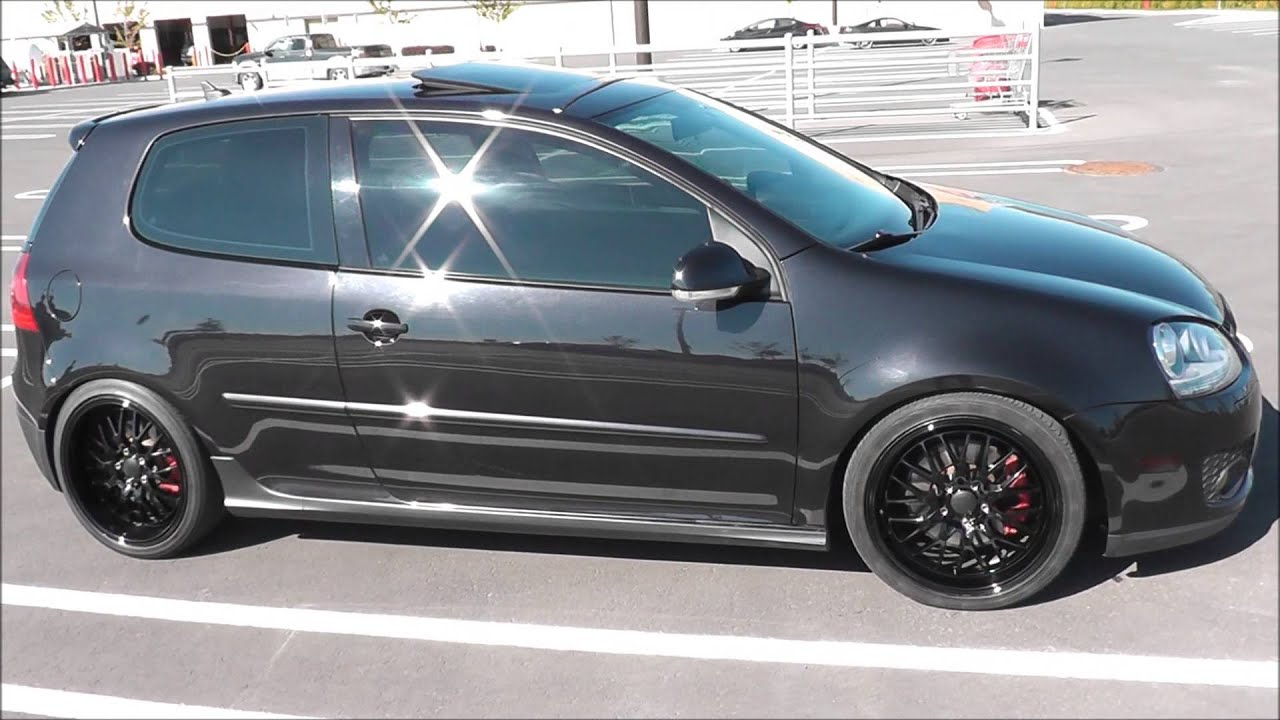 My VW GTI MKV TURBO 2008  Black on Black  YouTube