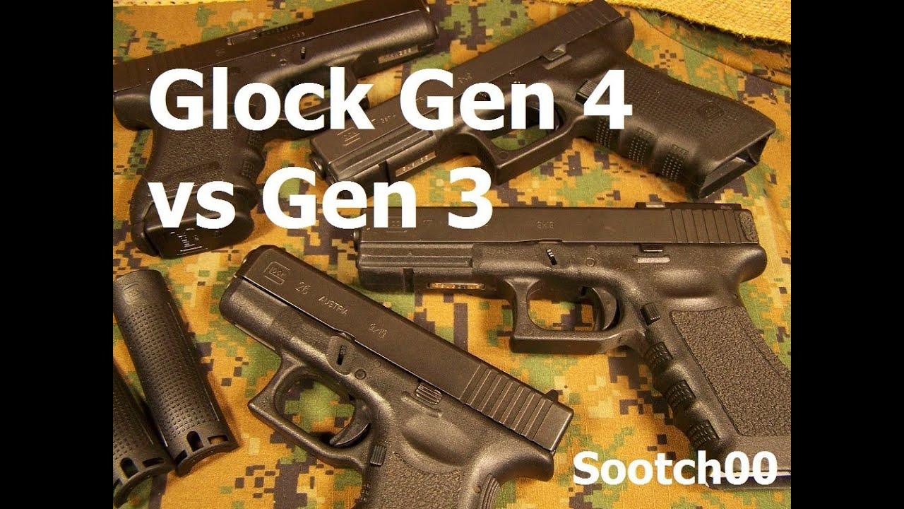 Glock Gen 4 vs Gen 3 Pistols - YouTube