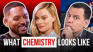 Body language clues oḟ ATTRACTION (Margot Robbie and Will Smith)