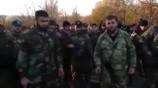 Чеченские добровольцы прибыли в Донецк на помощь ДНР. Ополченцы, Новороссия.