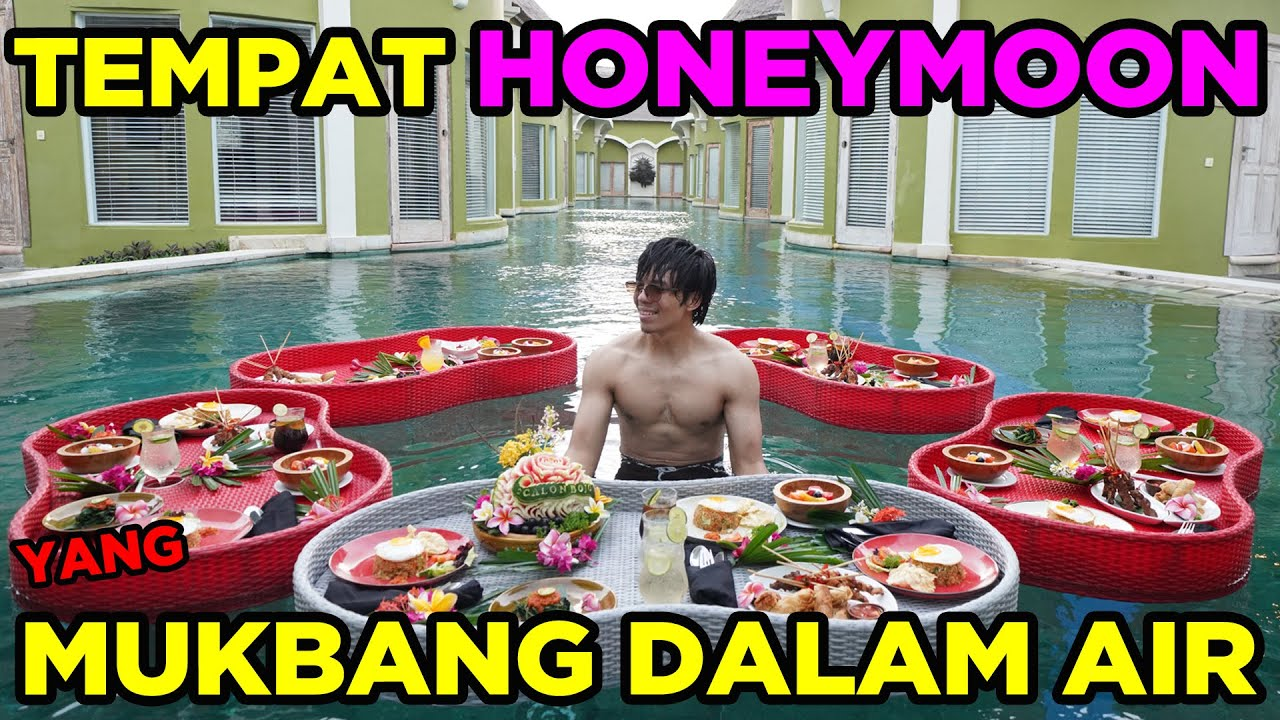 MUKBANG Dalam Air Di Tempat HONEYMOON