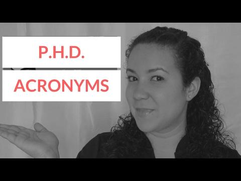 PhD Acronyms