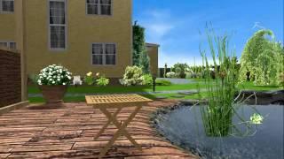 Водоем в программе Landscape Architect 3D Pro. Проект сада.