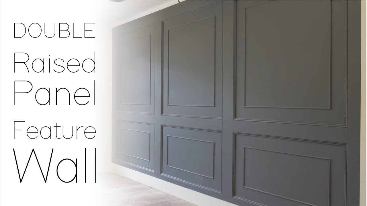 DOUBLE Raised Panel Feature Wall - YouTube