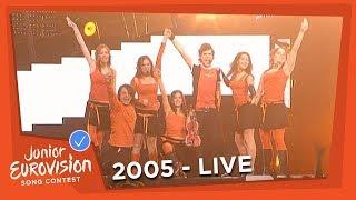 Alexandros and Kalli represented Greece at the 2005 Junior Eurovisi...