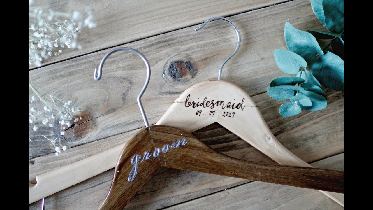 Easy Diy Wedding Bridal Hangers