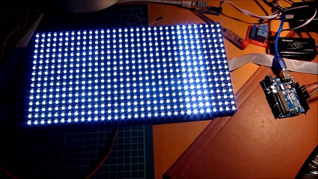 Led Matrix 16x32 + Arduino Uno R3 - PWM Greyscale mode