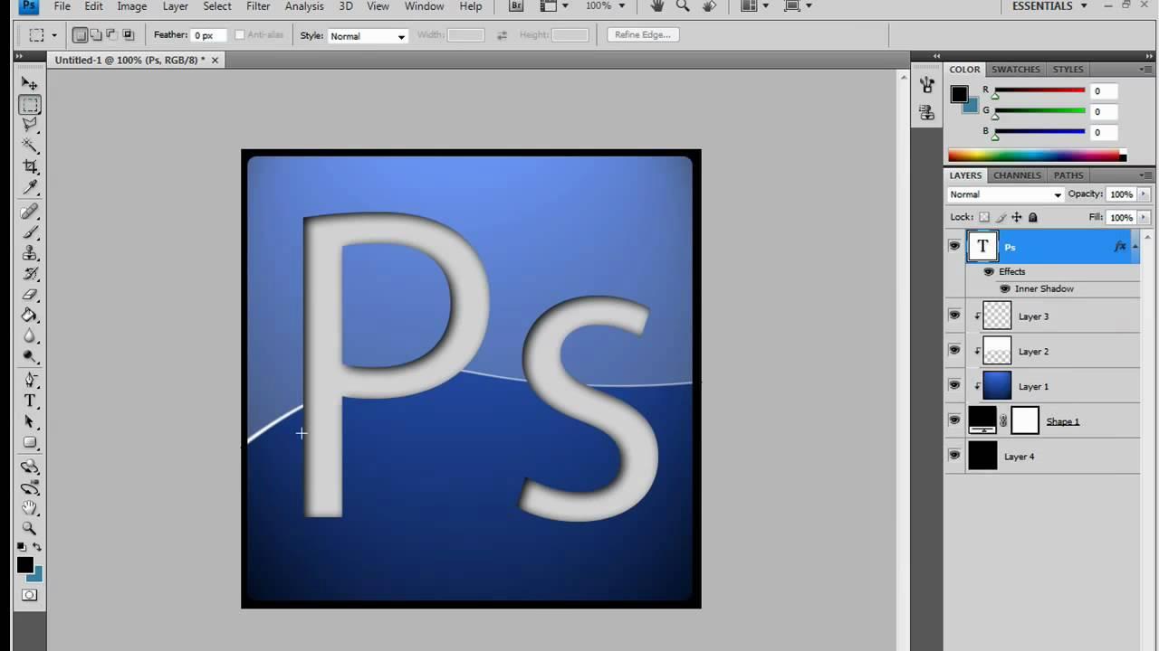 photoshop ps logo icon youtube