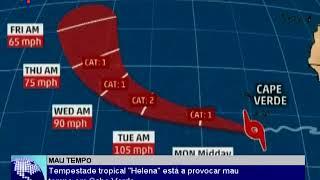 Tempestade tropical  Helena  está a provocar mau tempo em Cabo Verde