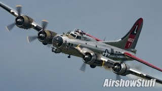 B-17 Flying Fortress Low Flybys - Thunder Over Michigan 2018
