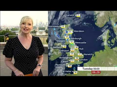 BBC Weather : Thunderstorms Will Clear Humidity