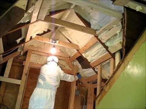 Spray Foam Insulation Froth Pack In The Sewing Room Youtube