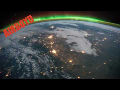Aurora Borealis And Eastern United States At Night (ISS)