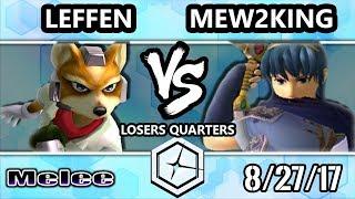 Shine 2017 SSBM - TSM | Leffen (Fox) vs FOX MVG | Mew2king (Marth) - Melee LQ