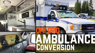 Guy Converts Ambulance to Ultimate Off Grid Tiny Home!