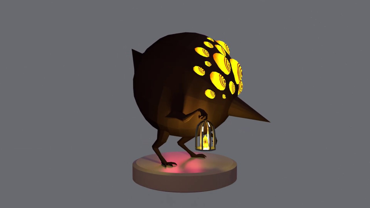 Lobotomy Corp Big Bird Low Poly Model