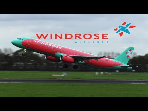 WINDROSE AIRBUS A321-231 UR-WRJ TAKE OFF ROTTERDAM AIRPORT