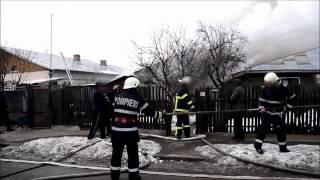 Incendiu Ploiesti - strada Moreni februarie 2017