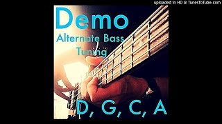 alternate bass tuning // demo #4: d,g,c,a