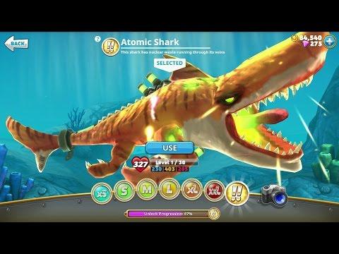 Hungry Shark World Atomic Shark Android Gameplay