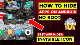 How To Hide Apps On Android (No Root) | Best App Hider 2020, Transparent Widget