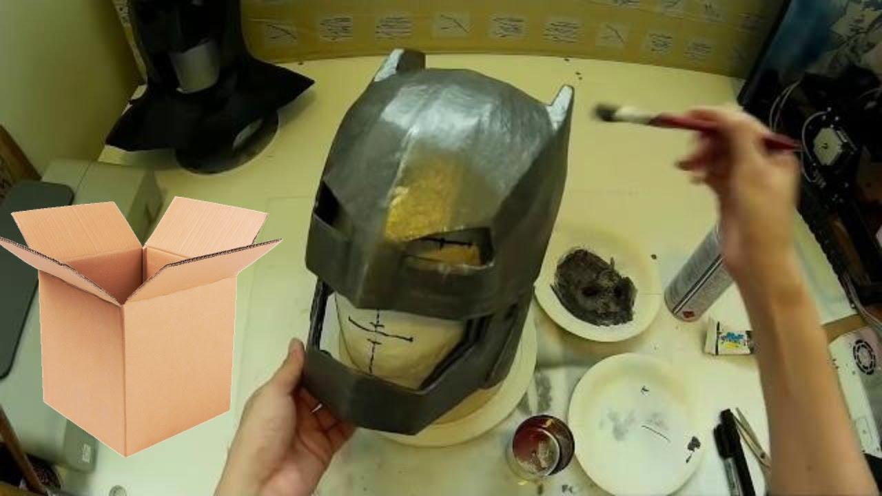 How to make Armored Batman Helmet Part 2 - Papermache ...