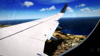 FSX | Ryanair hard landing in Malta | Extreme graphics | HD | Must see