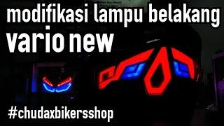 Modifikasi lampu depan dan belakang new vario || chudax bikers shop