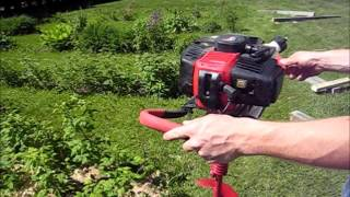 How To Start Use An Earthquake 43 Cc Earth Auger Powerhead Fence Post Hole Digger Digging Review