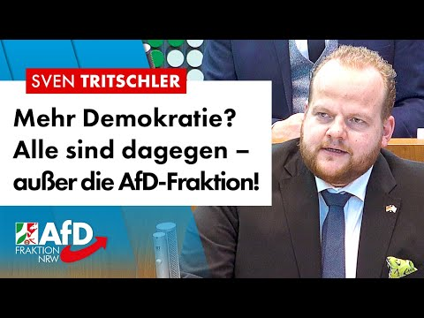 Mehr Demokratie? Alle sind dagegen, außer die AfD-Fraktion! – Sven Tritschler (AfD)