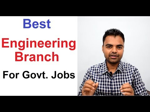 Best Engineering Branch in India for Govt Jobs in PSU, UPSC, State Govt, SSC in Hindi