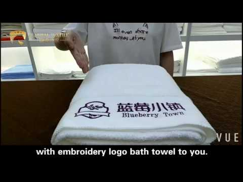 Hotel Bath Towel Diamond Band With Embroidery Logo-Shanghai General Textile Co.,Ltd
