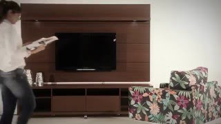Manhattan Comfort  Cabrini TV Stand + Cabrini Panel (Brown)