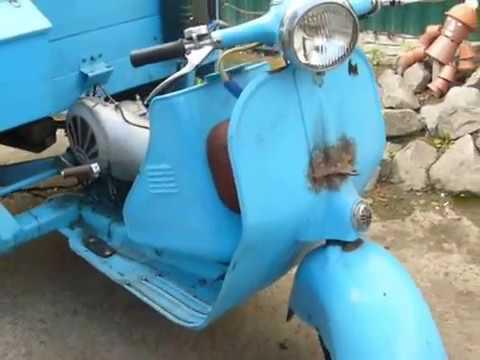 Мотороллер ВЯТКА Вп-150 1965 года выпуска. Купил Динозавра. - YouTube