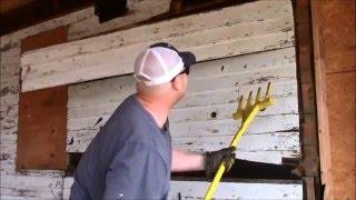 Wood siding tear-off