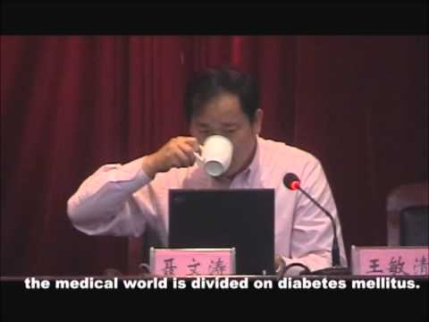 """Part 1 - Dr. Nie Wentao's diabetes lecture - Second Summit Forum of """"Healthy China"""""""