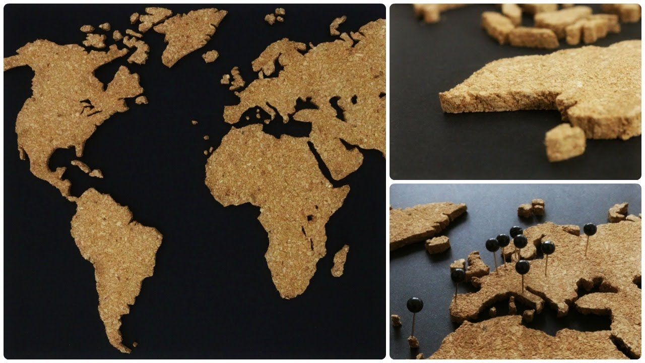 Kork Weltkarte Diy Cork World Map Eng Sub Youtube