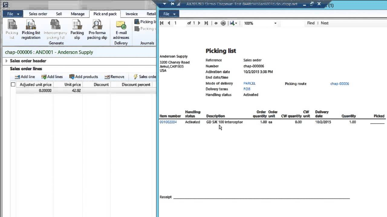 Sales Order To Invoice In Dynamics AX YouTube - Order invoice