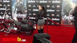 """Francia Raisa GORGEOUS! """"The Avengers"""" Premiere Arrivals"""