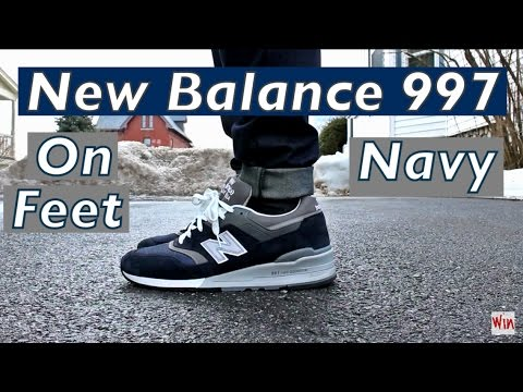 new balance 997 on feet