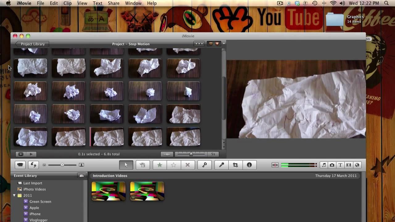 Imovie stop motion tutorial youtube.